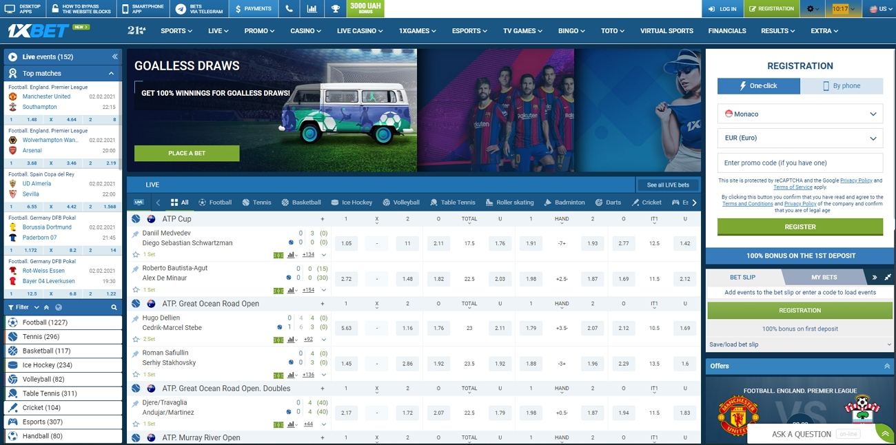 1xbet betting site review