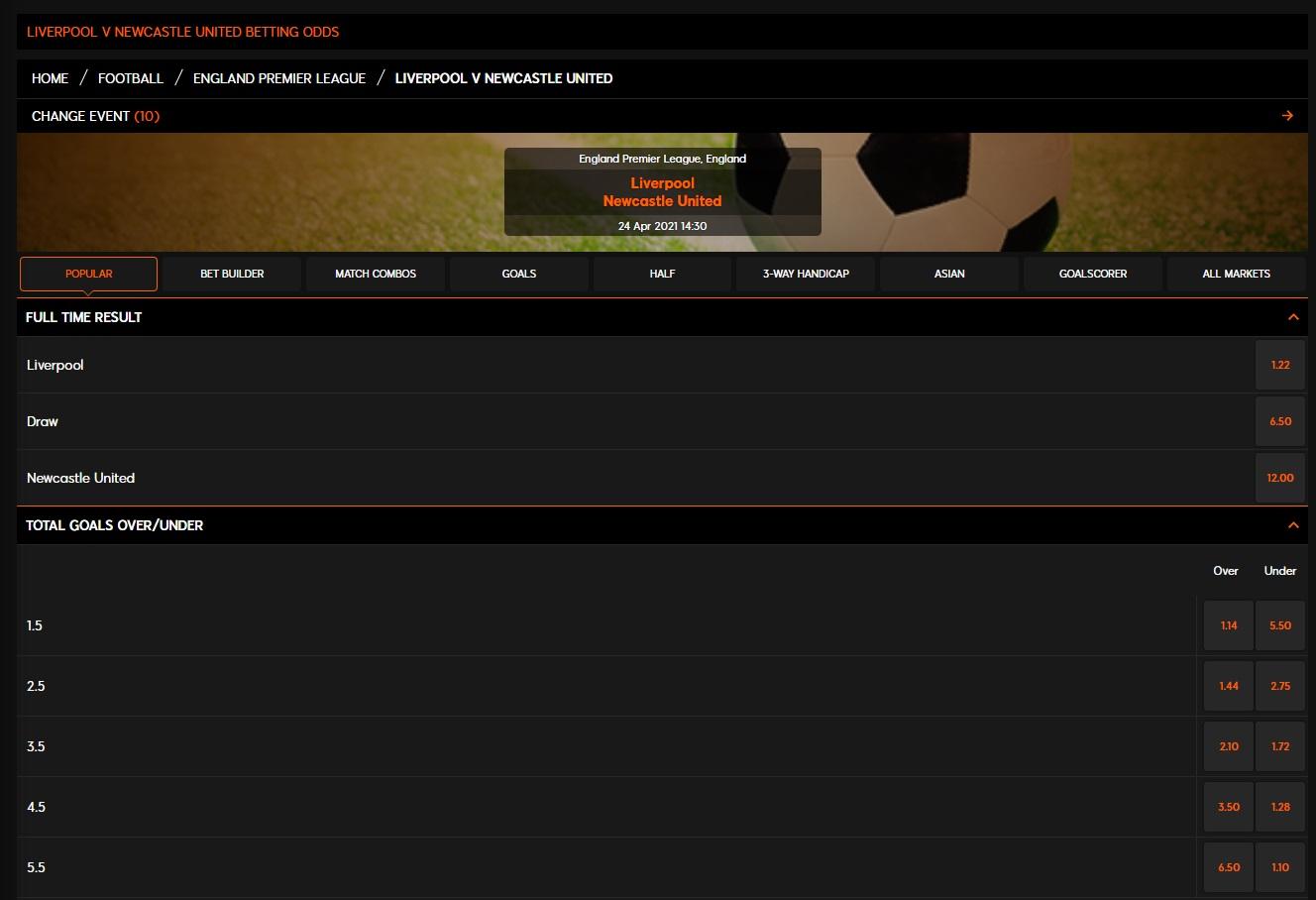 Betting list 888 sports