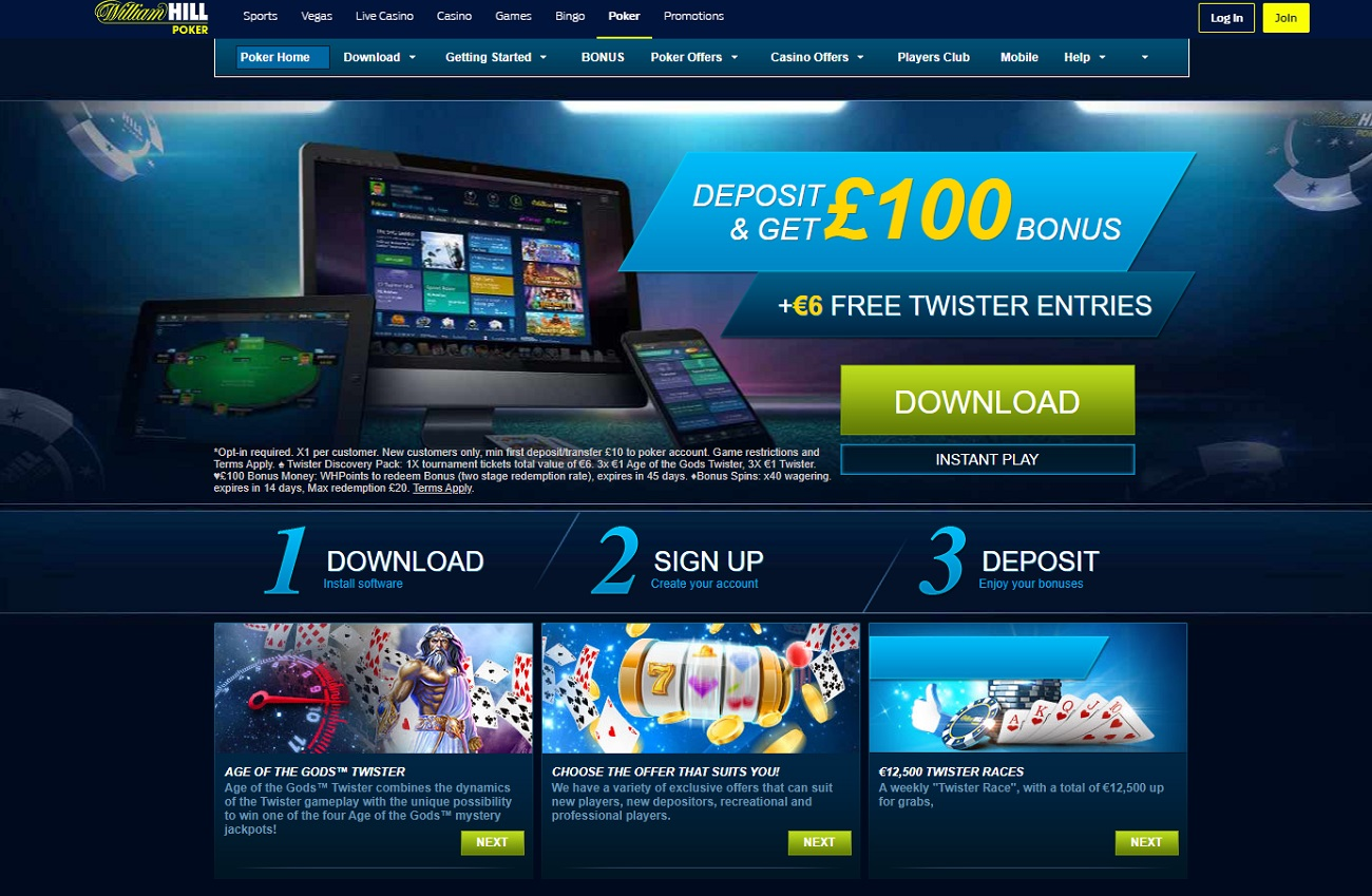 poker on the william hill