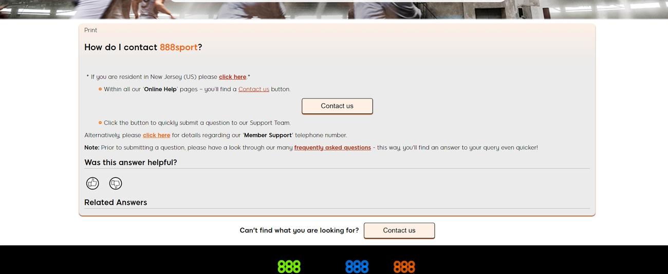 888 customer service page