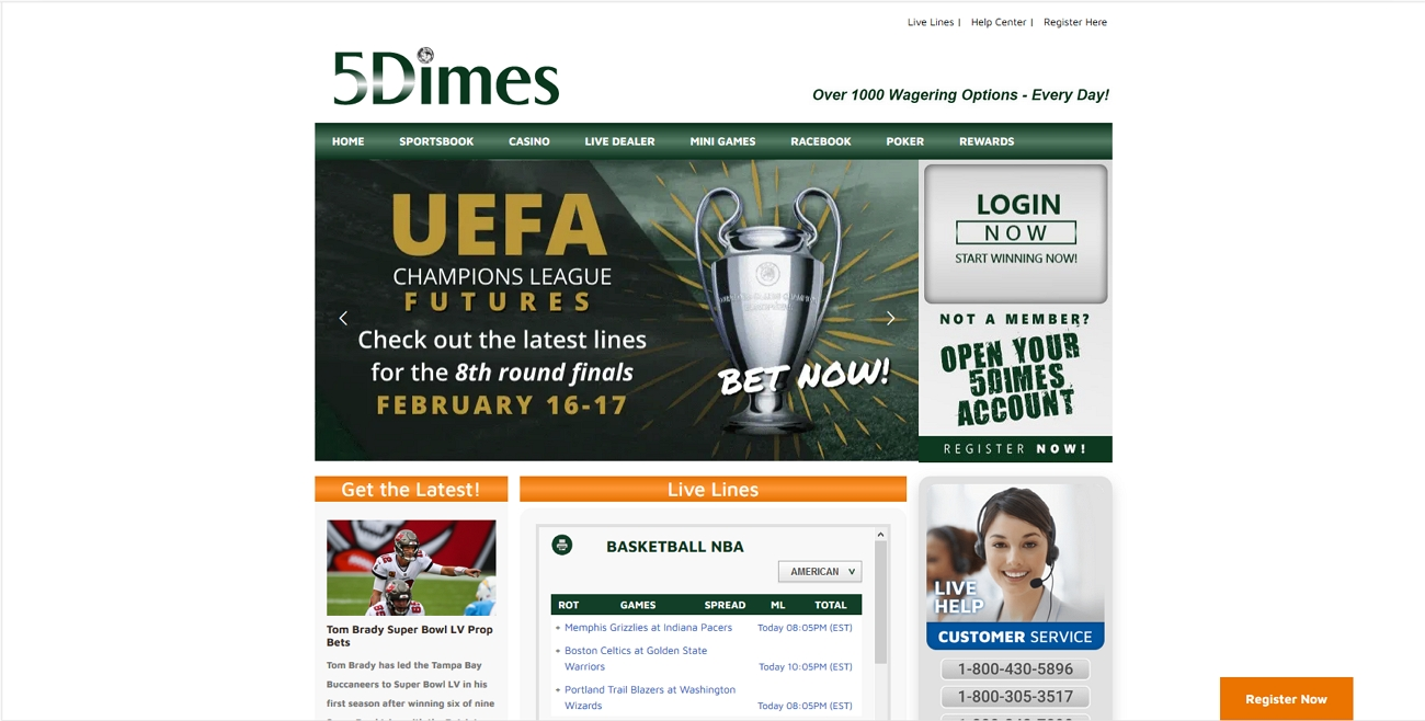 5 dimes bookmaker review
