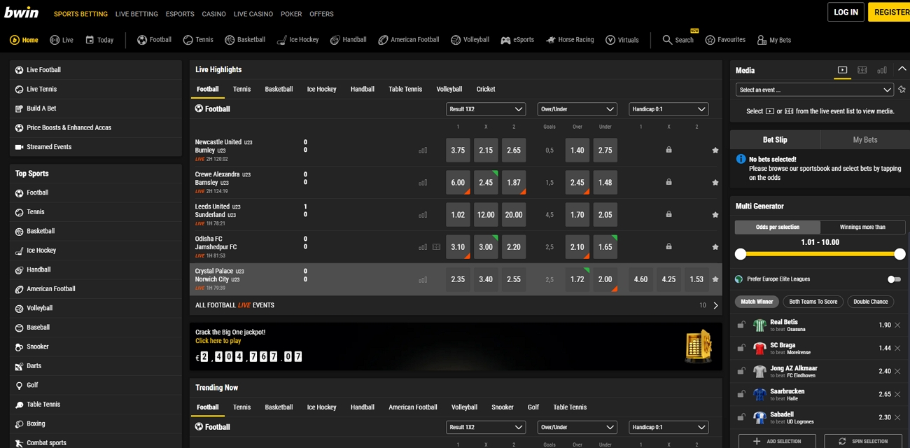 Bwin betting site review