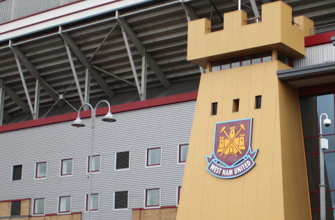 """West Ham Stadion. Article: """"New Rules Set For Major Clubs In England"""""""