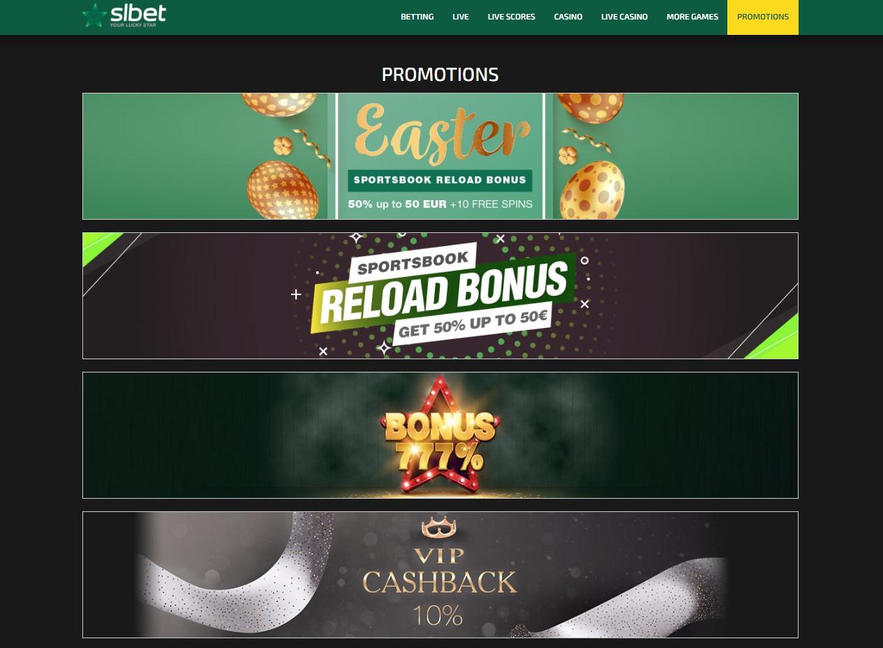 SlBet bonuses