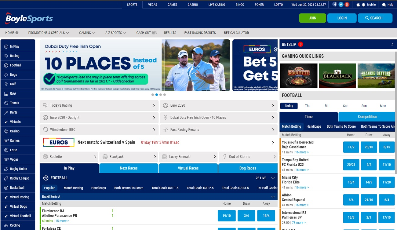 Home page BoyleySports
