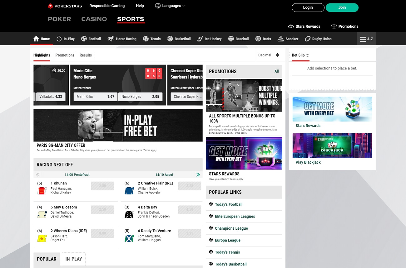 Betstars betting site review