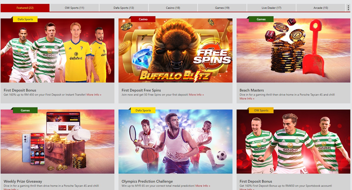 dafabet promotions and bonuses