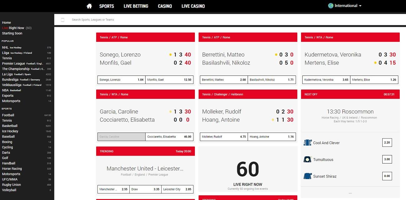 Sports betting line RedBet
