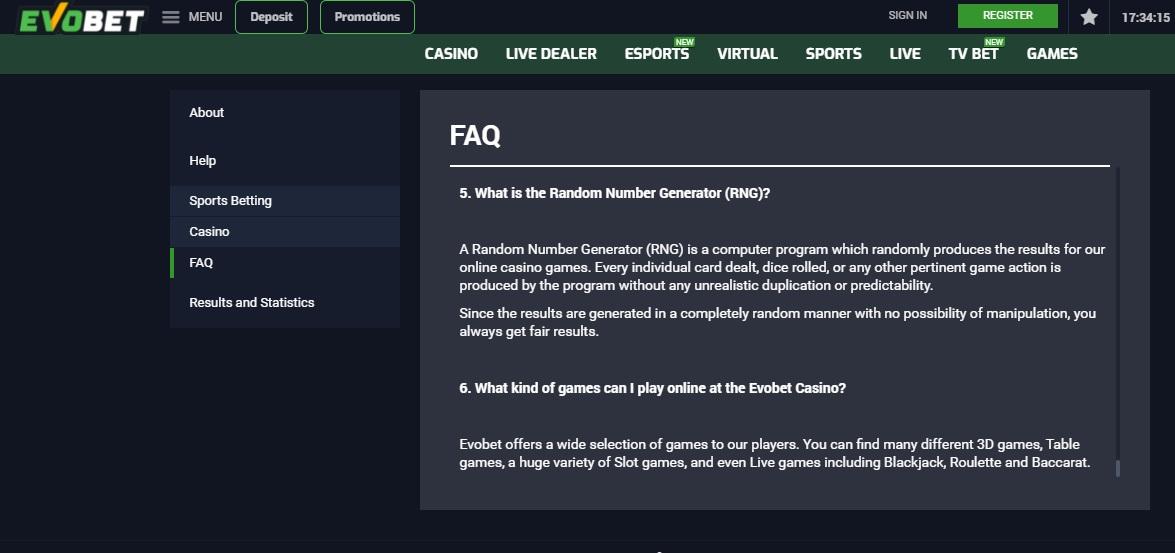 Evobet FAQ
