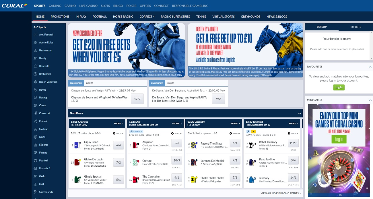 Home page website Coral