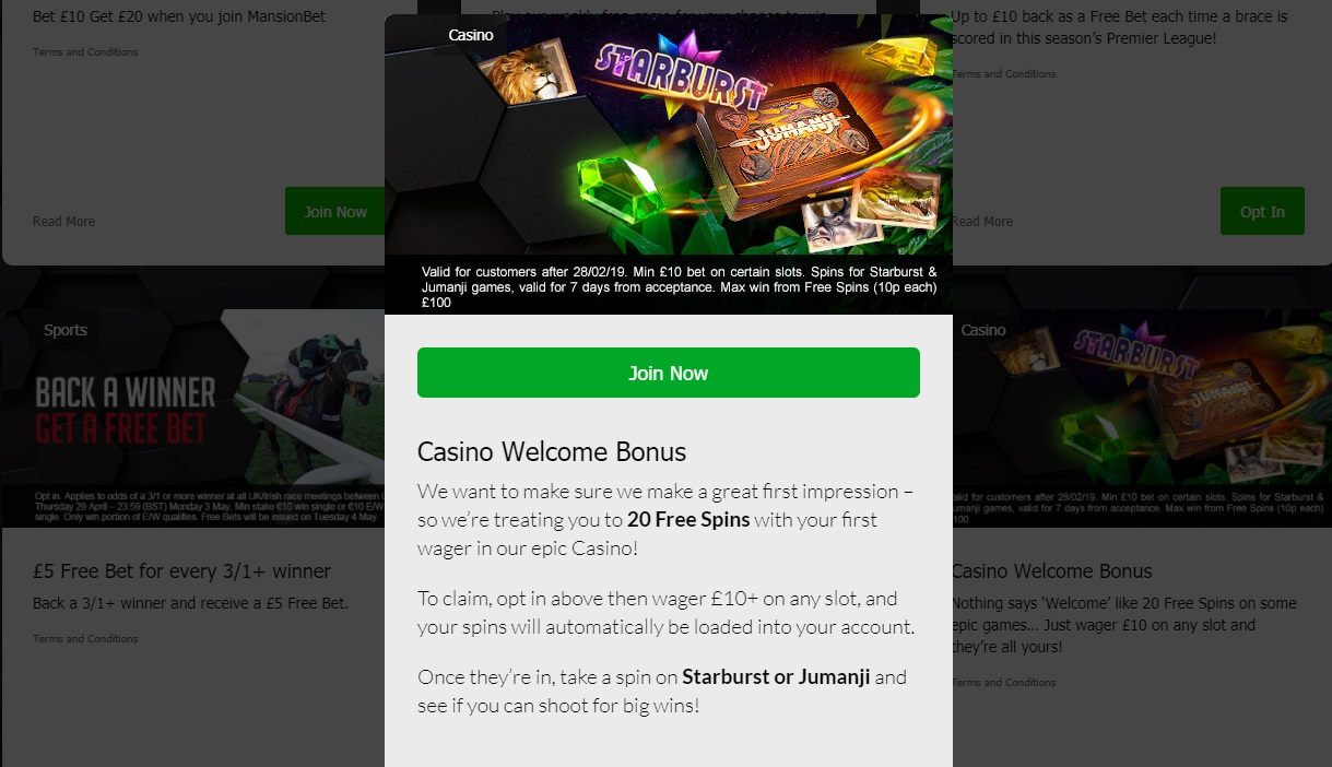 Mansionbet casino welcome bonus