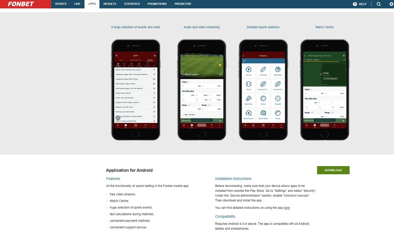 Fonbet apps