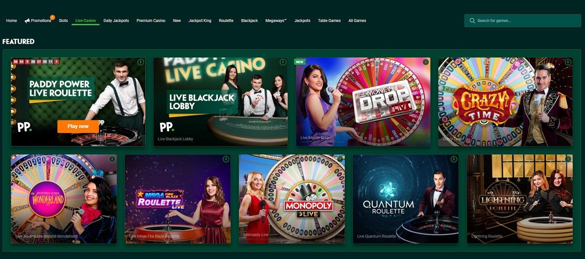 Pady Power Casino Games