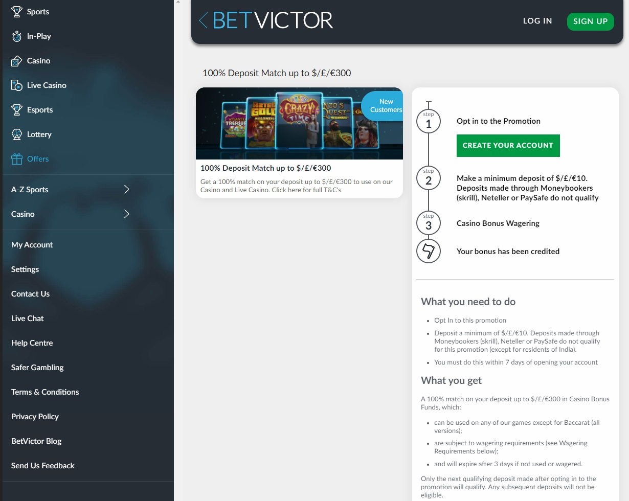 Bookmaker promotions and bonuses