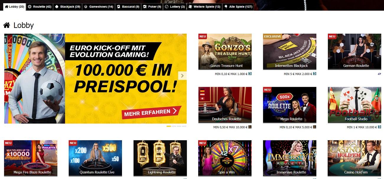 Live Casino Interwetten