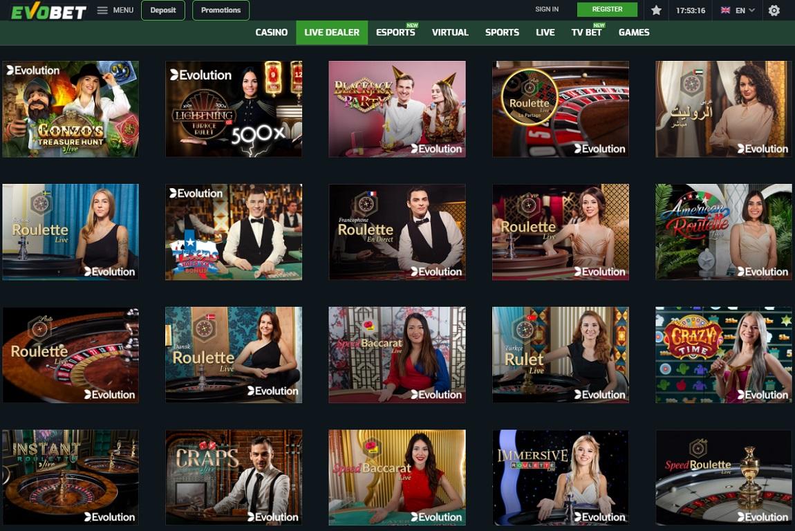 Live Casino Evobet