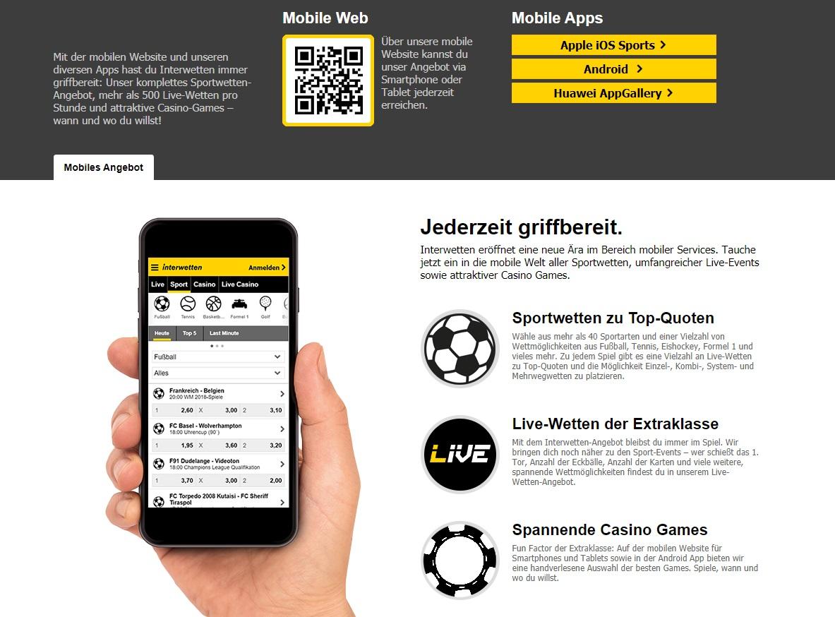 Interwetten apps