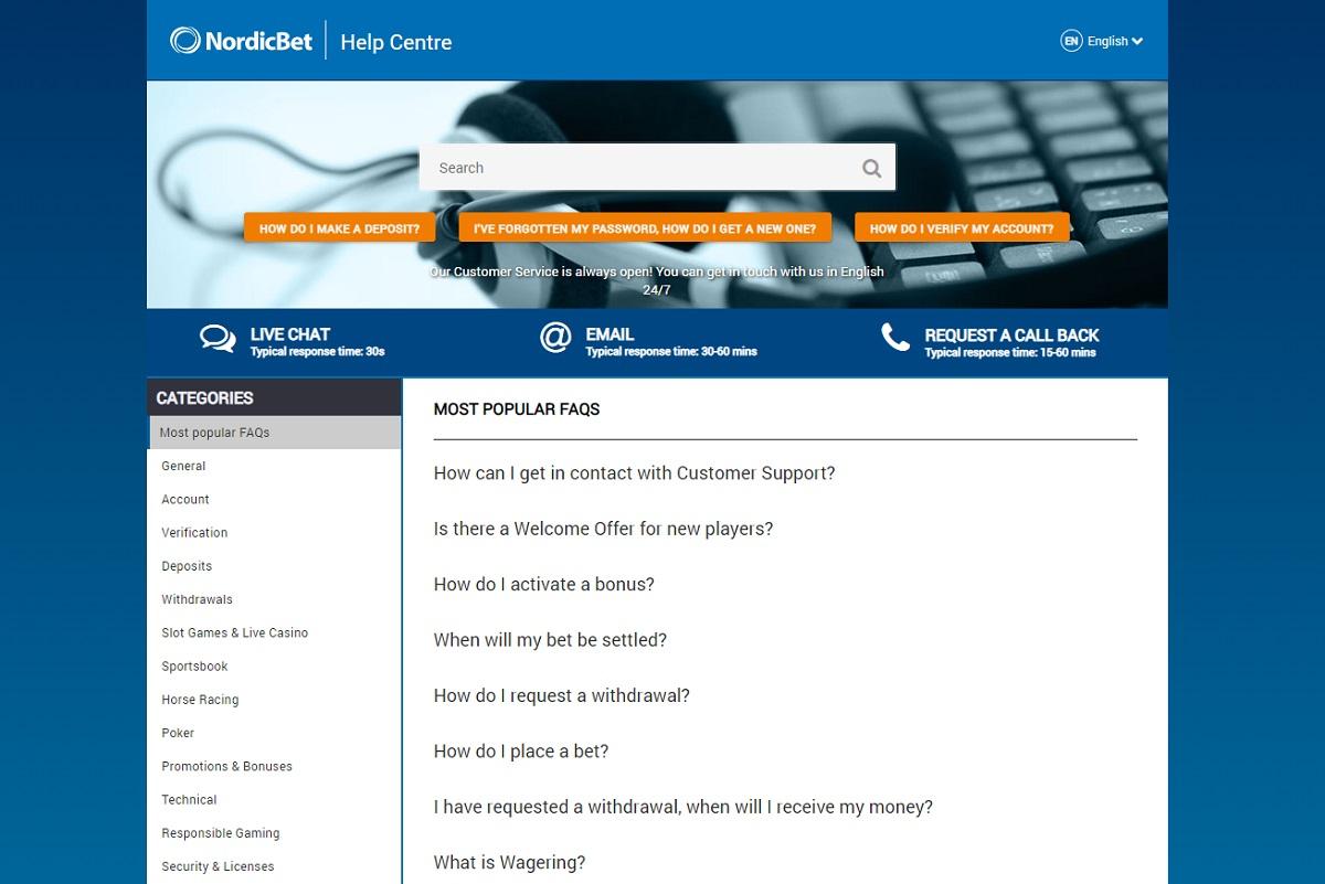 Nordicbet FAQ
