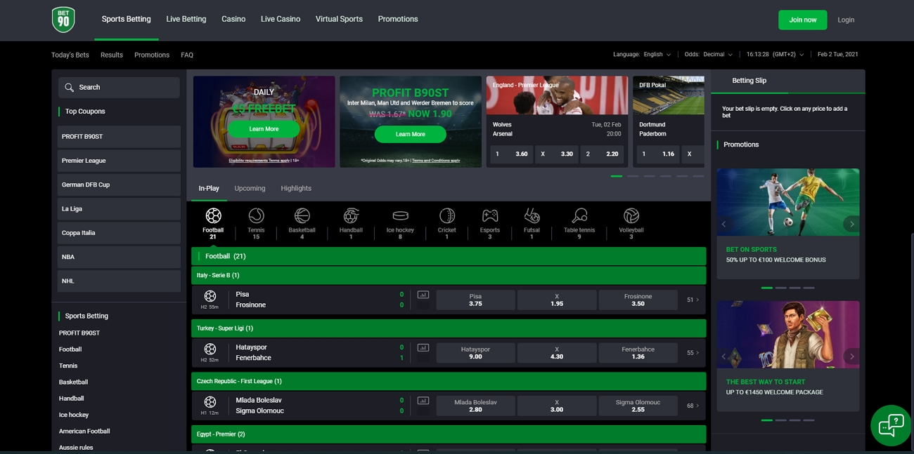 Bet 90 betting site review