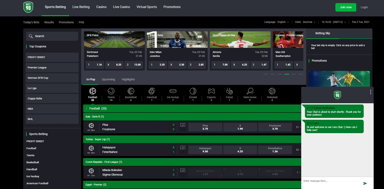 Bet 90 live chat