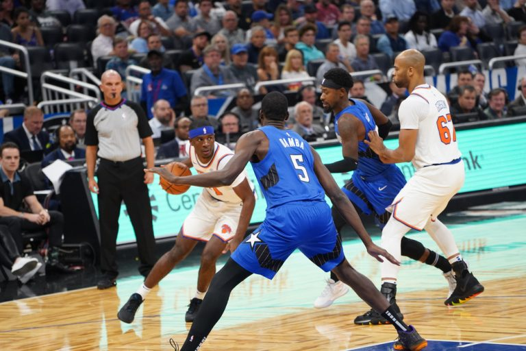 Orlando Magic host the New York Knicks at the Amway Center in Orlando Forida on Wednesday, October 30, 2019. Photo Credit: Marty Jean-Louis