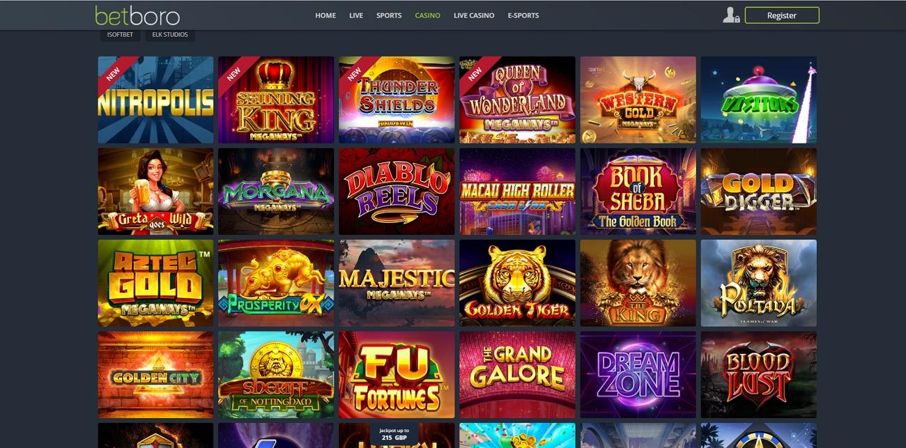 Betboro casino section