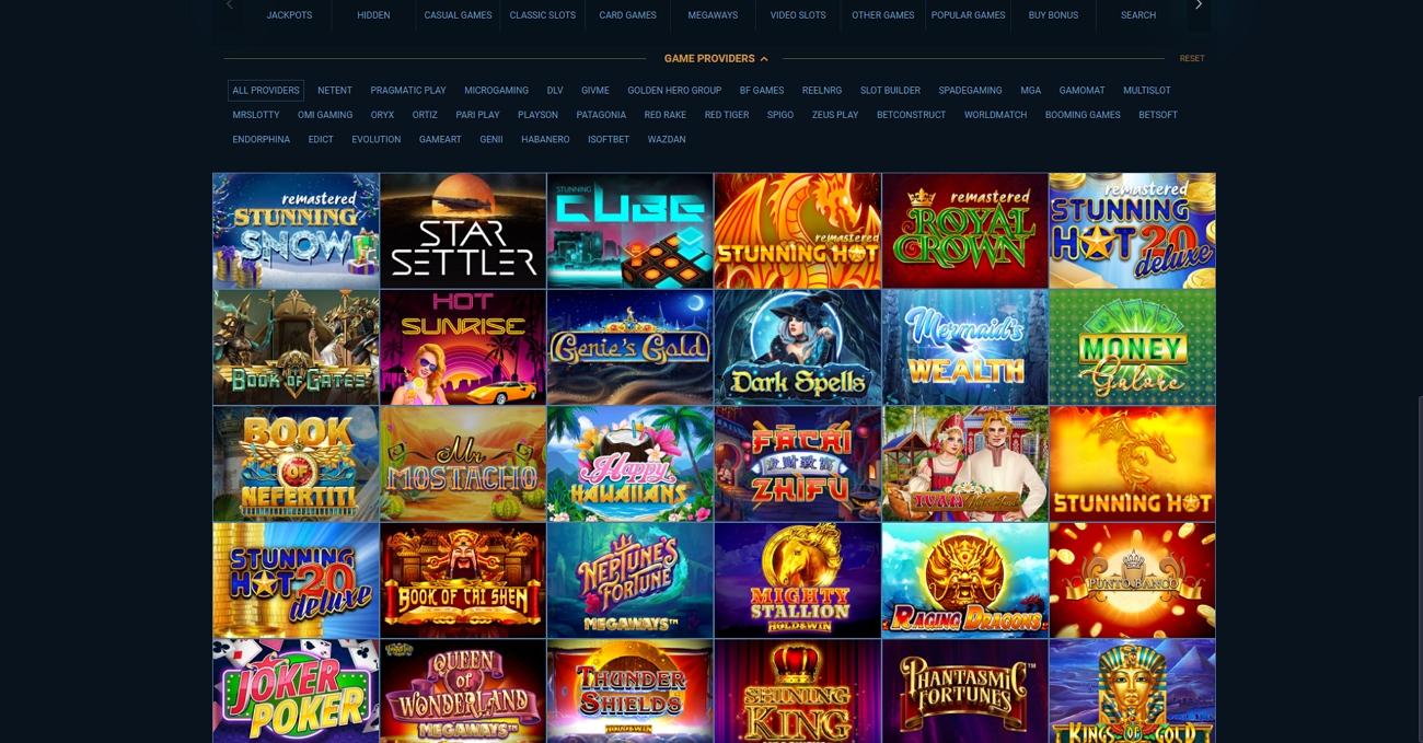 Falconbet casino page