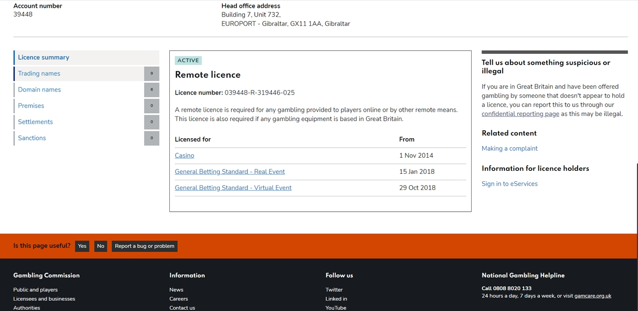 Mansionbet license