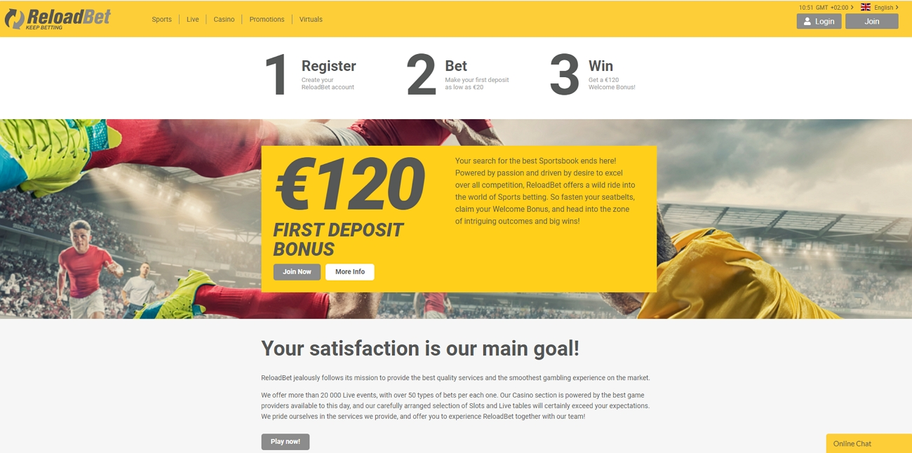 Reloadbet betting site review
