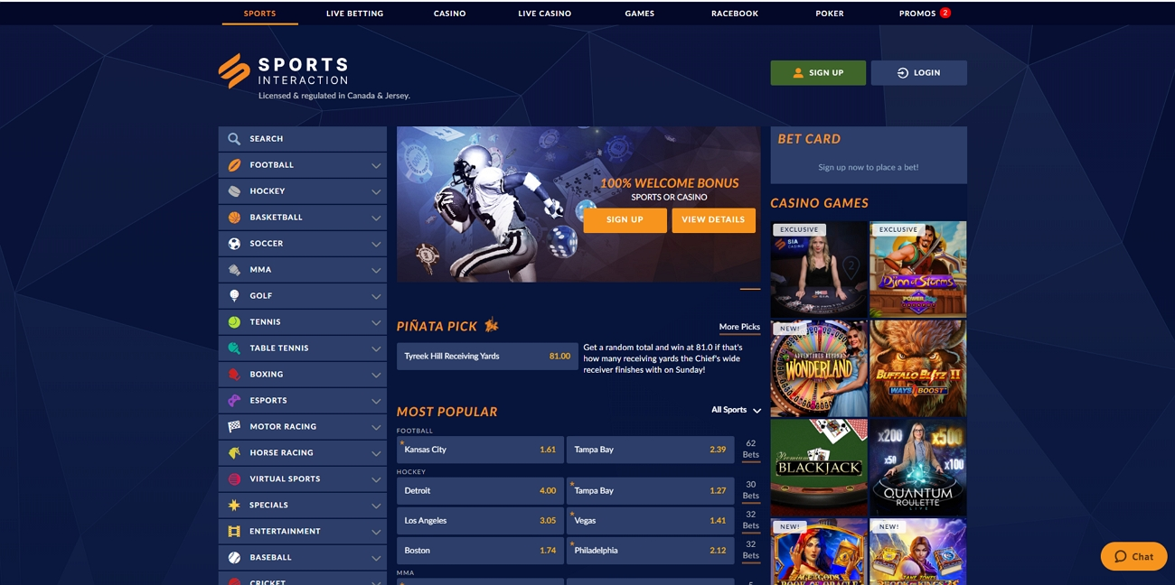 Sportsinteraction betting site review