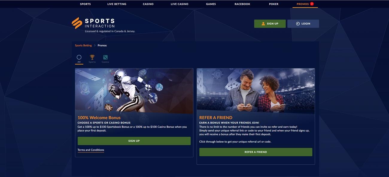 Sportsinteraction bonus and promo