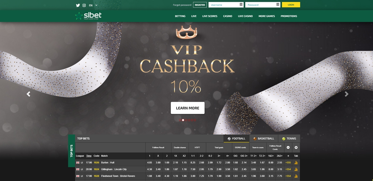 Slbet bookmaker review