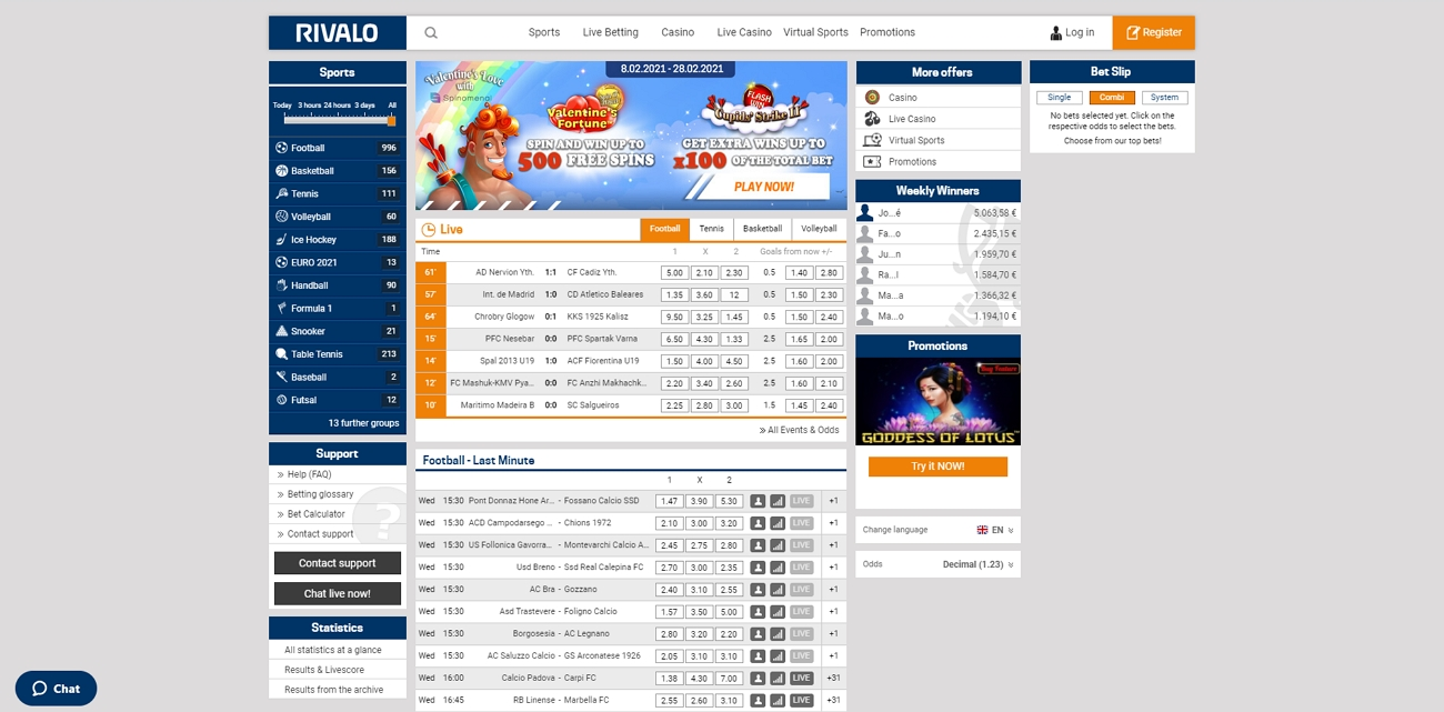 Rivalo betting site review