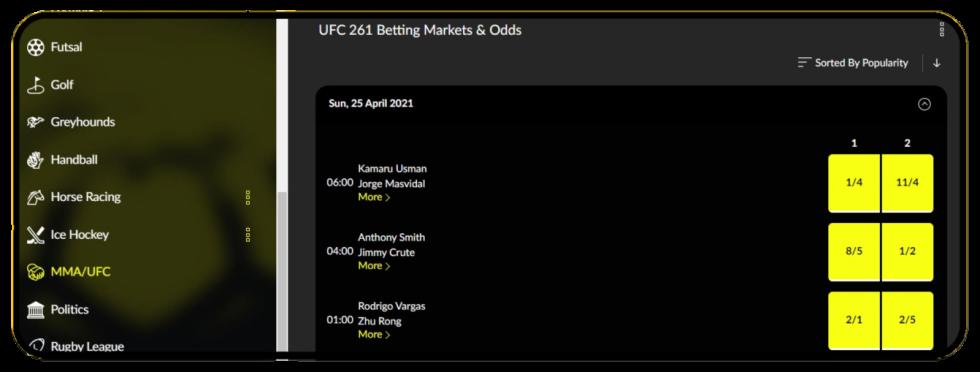 UFC Betting Line