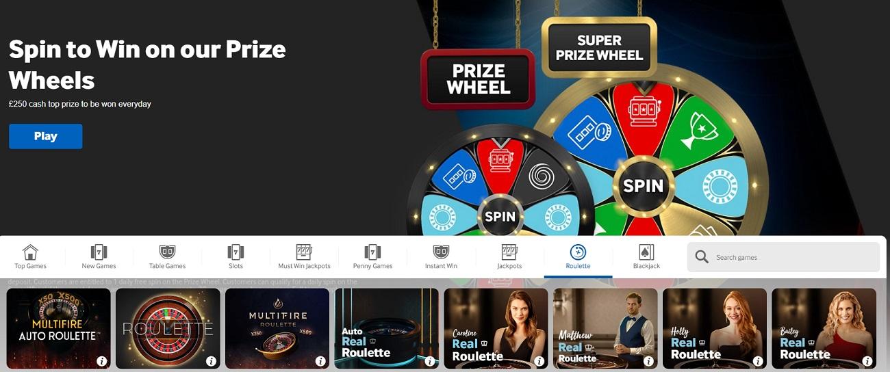 Online casino Big Six Wheel,