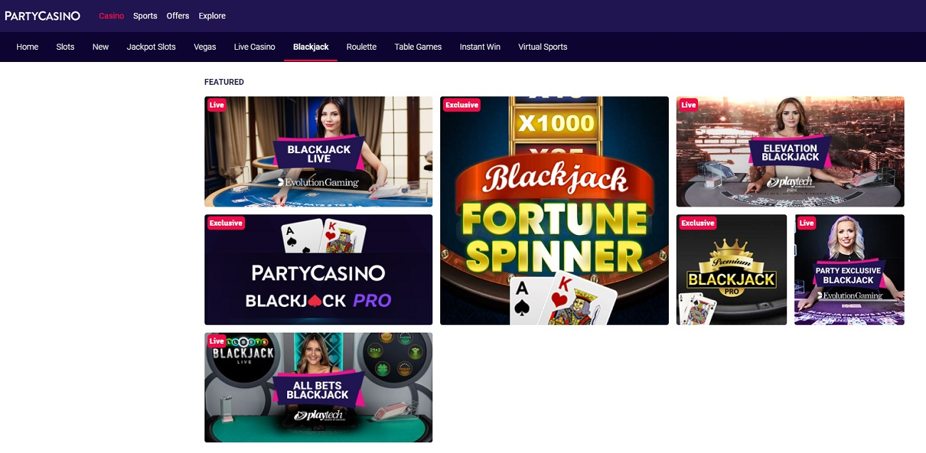 Party Casino Blackjack