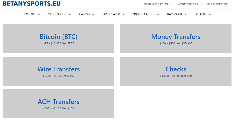 Money withdrawal betanysports