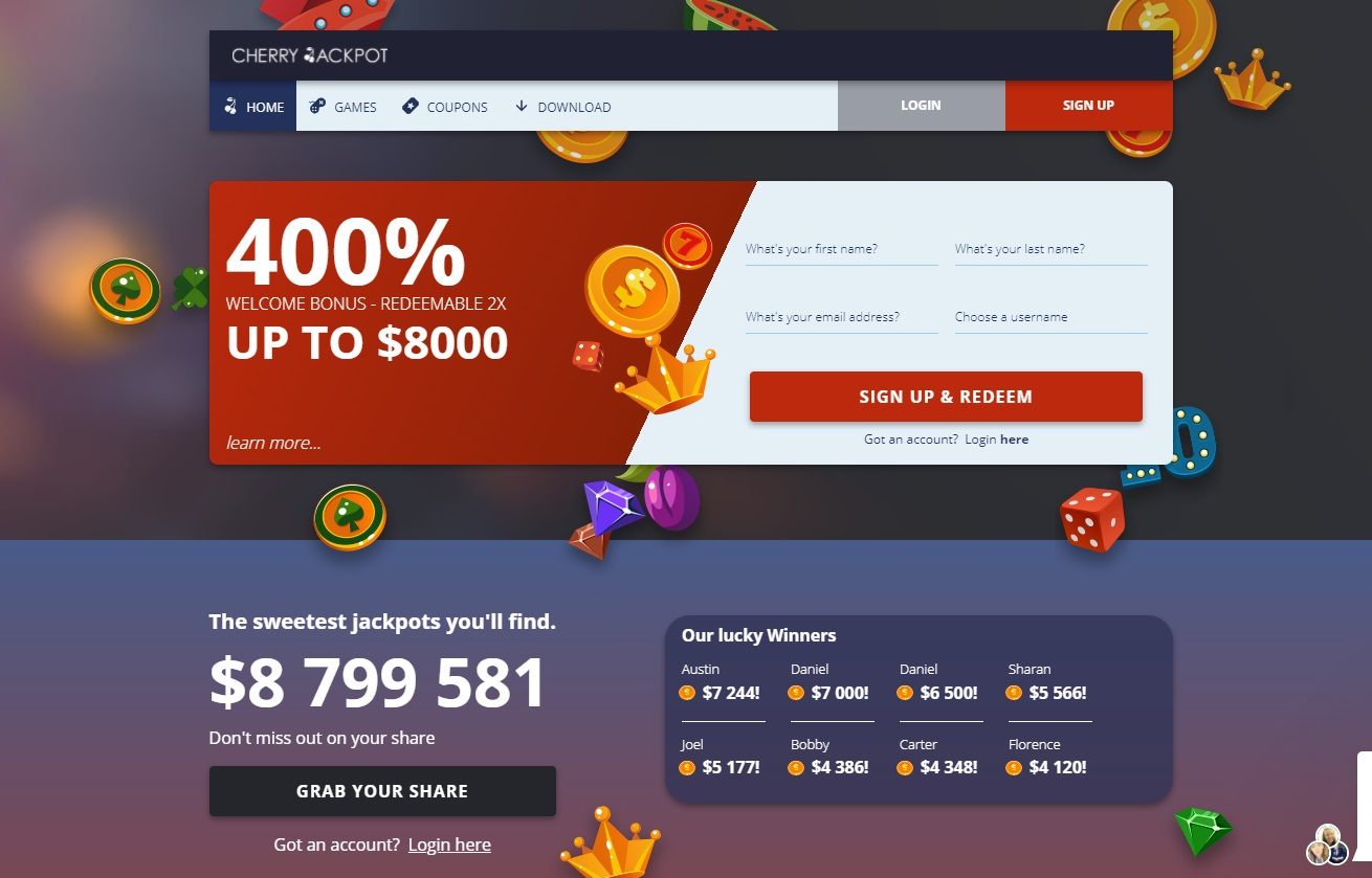 Cherry Jackpot online casino