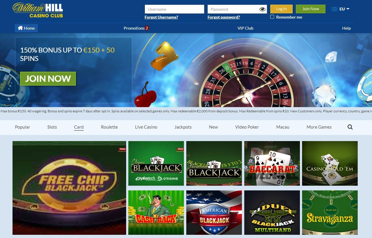 William Hill inline casino