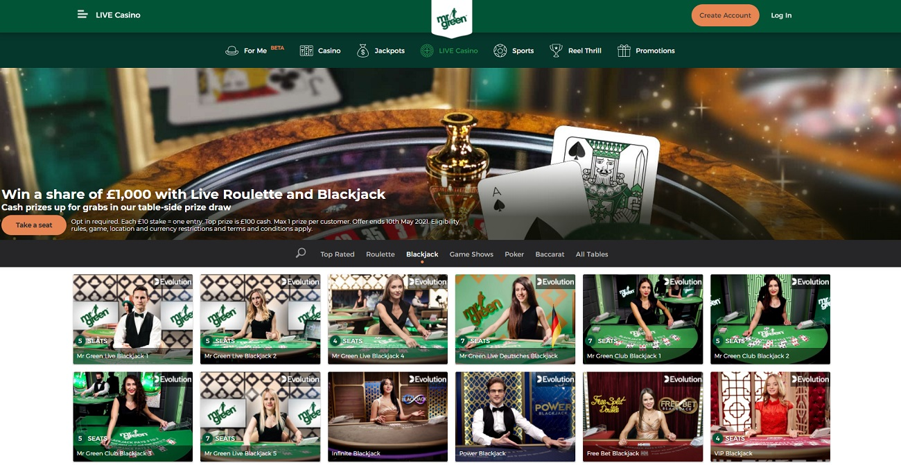 blackJack Green Casino