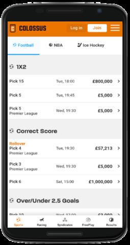 Colossus bet app