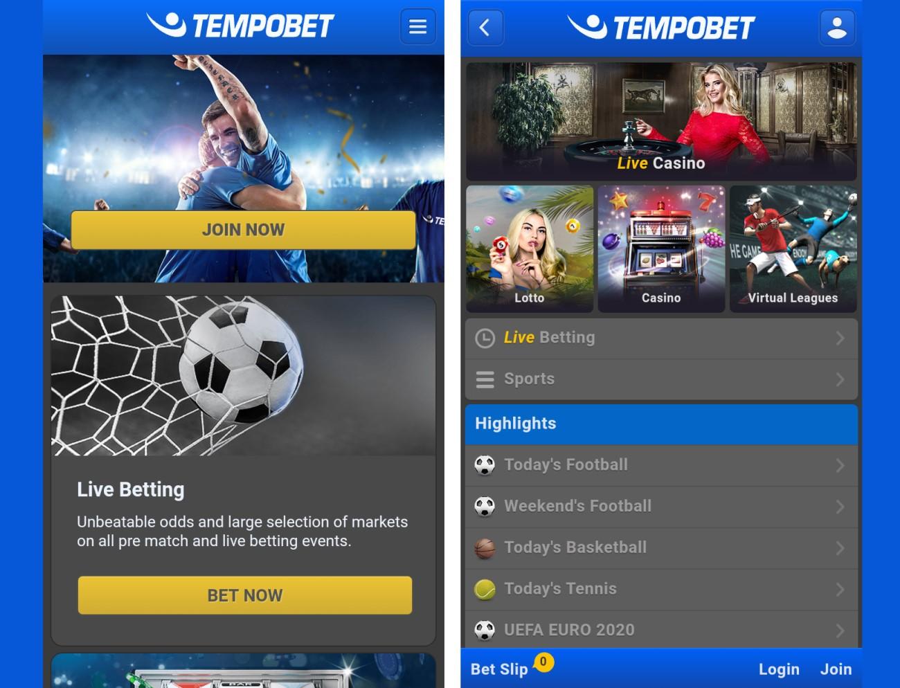 Tempobet mobile