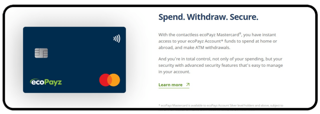 ecoPayz Credit Cards